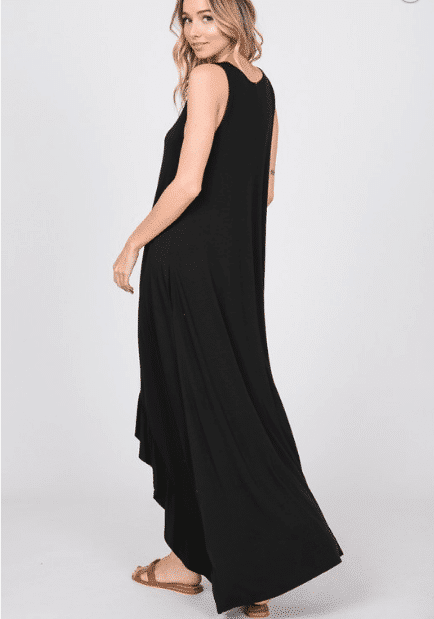 AMAKA RUFFLED MAXI DRESS WITH SIDE POCKET