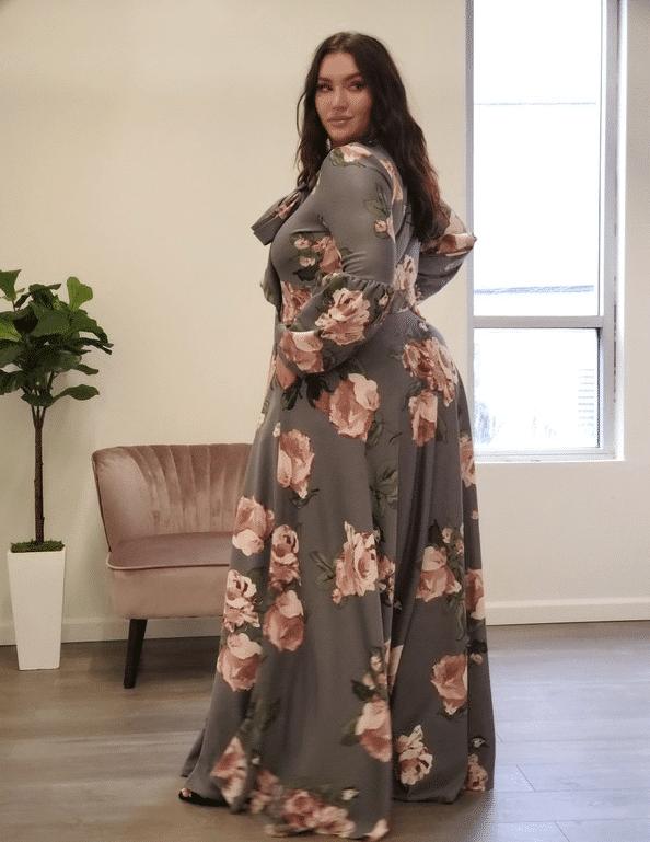 Emilia Statement Maxi Dress - PLUS SIZE