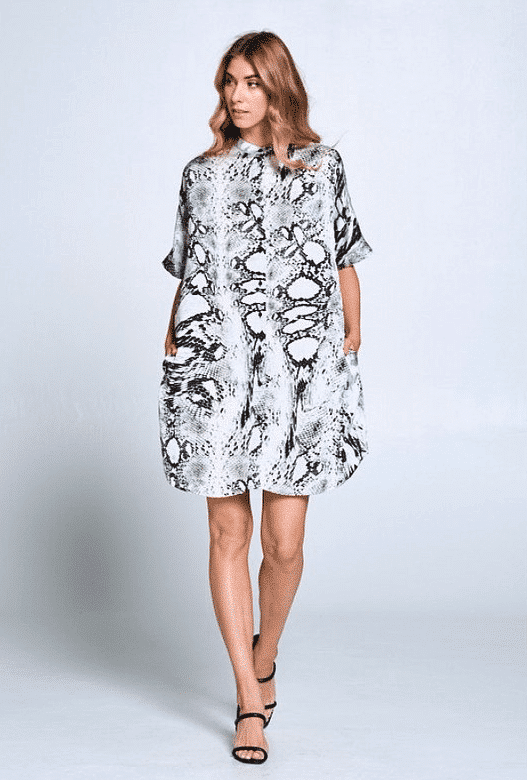 Ada Animal Print Shirt Dress For Fall Winter Spring Summer