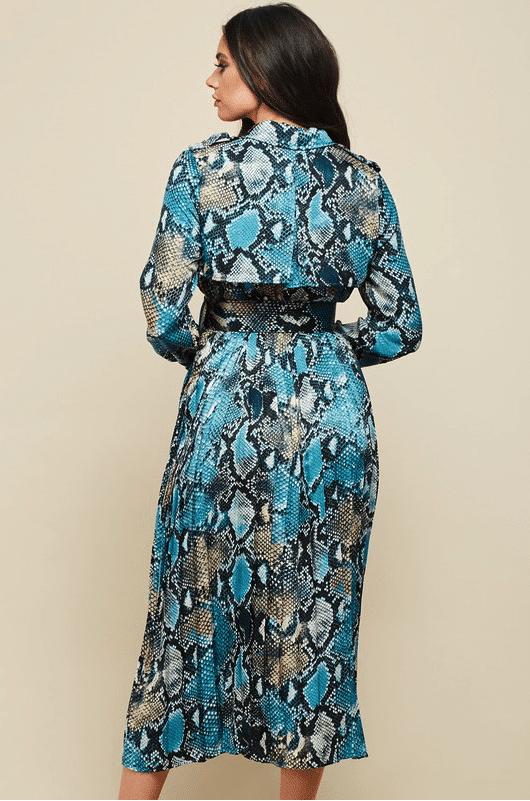 Blue Diamond Animal Print Dress