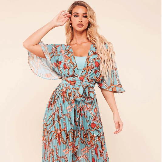 Pam Belted Print Jumpsuit