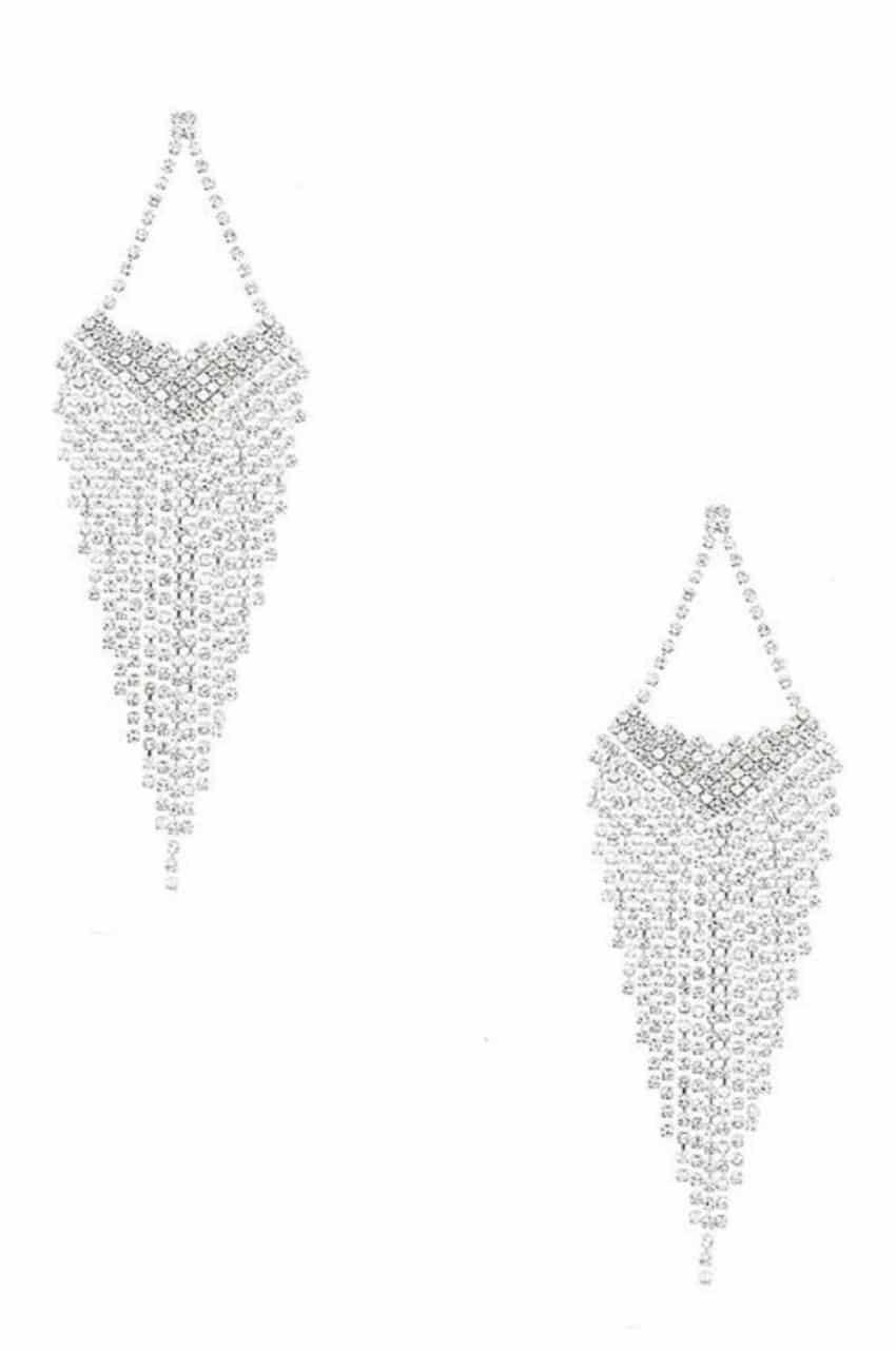 Jennifer Clear Fringe Earrings