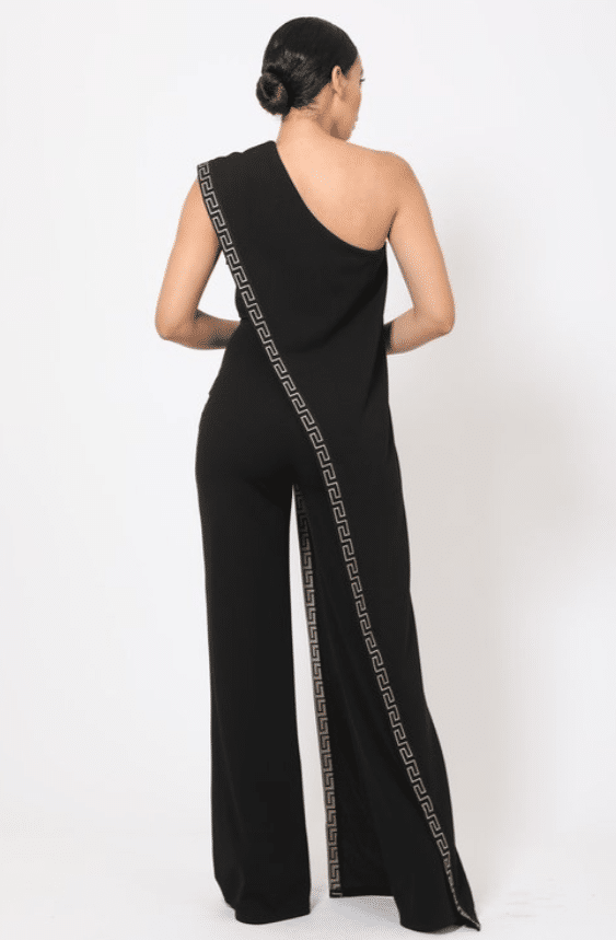 Phoebe Greek Border Monostrap Jumpsuit