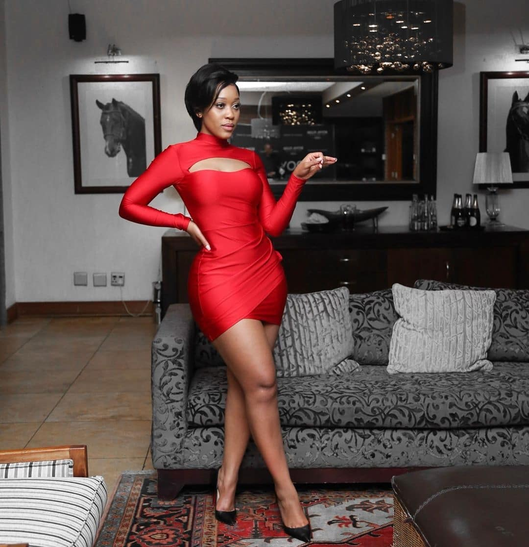 buhle-samuels-red-dress-south-african-celebrity