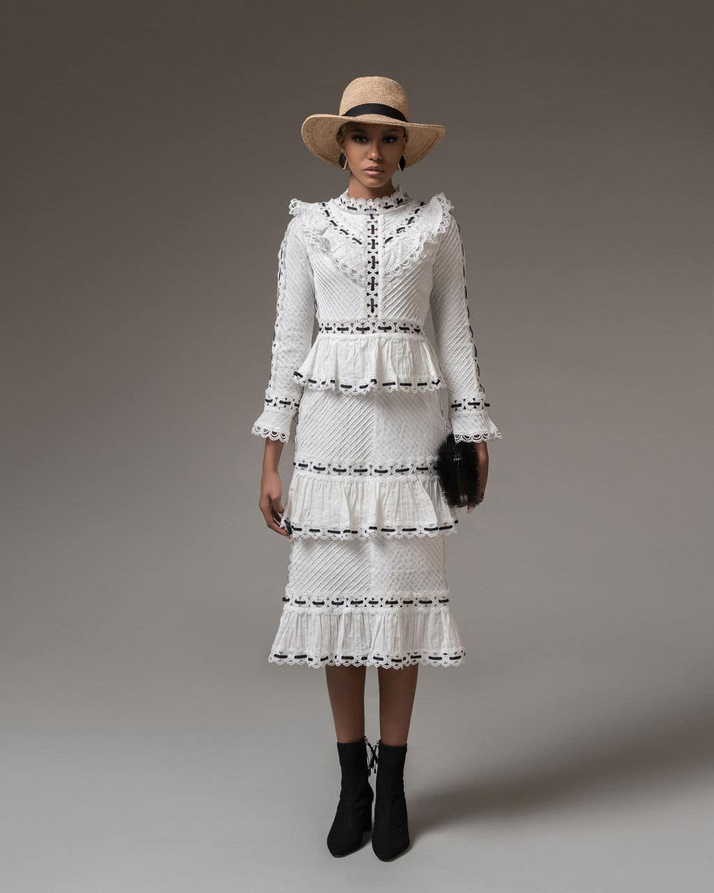 White Nancy Dress For Fall Winter Spring Summer
