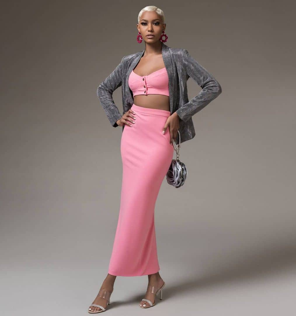 Susie Stretch Crepe Maxi Pencil Skirt For Fall Winter Spring Summer
