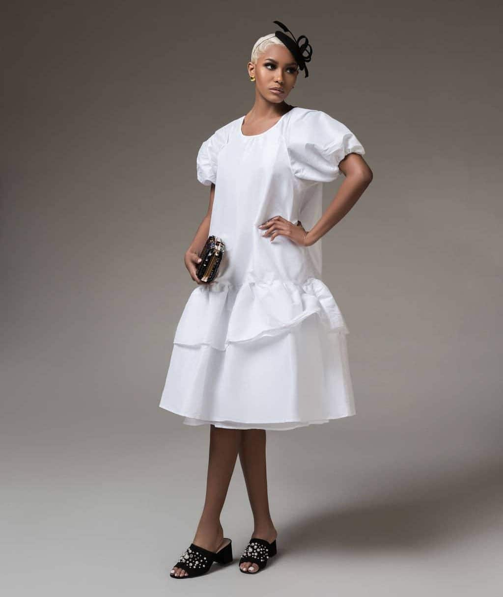 White Liberty Dress For Fall Winter Spring Summer