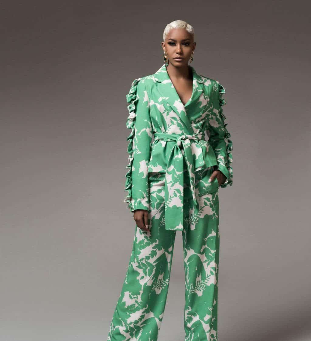 Ms-independent-green-and-white-floral-2-piece-set For Fall Winter Spring Summer