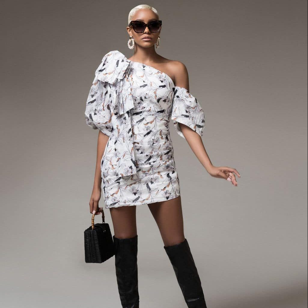 lola-moda-nova-mini-vestido Branco 1