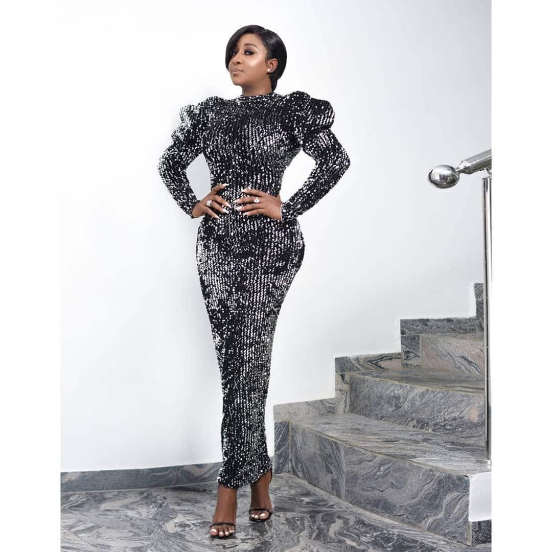 ini-edo-black-metallic-dress