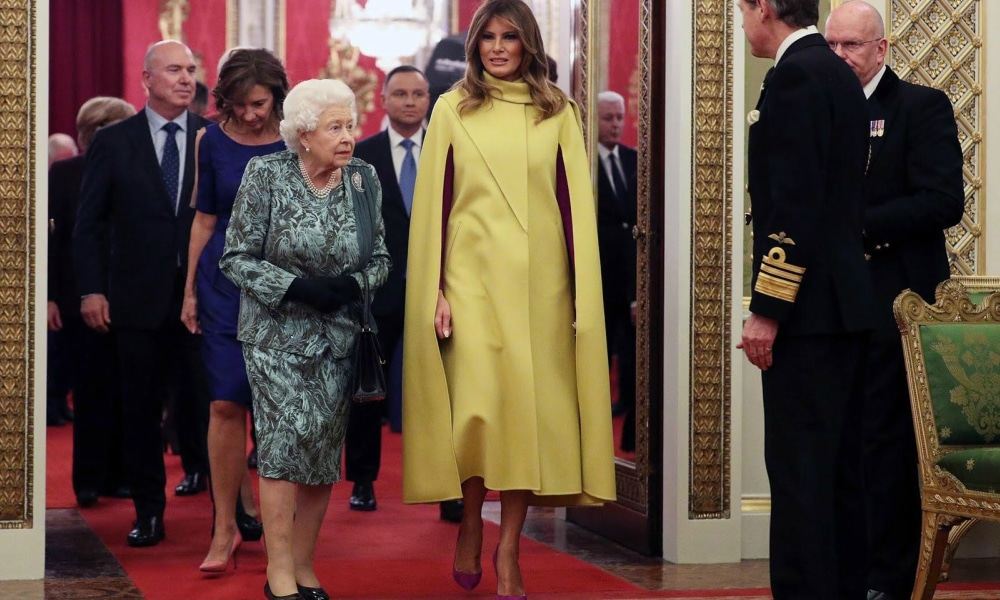 how-old-is-queen-elizabeth-colourful-classy-style-melania-trump-queen-elizabeth-nato-summit-reception-style-rave