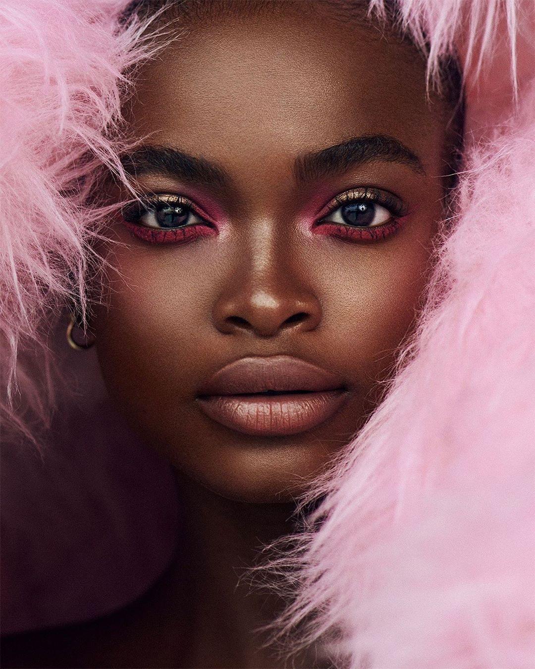 melanin-soft-glam-on-pink-fur-style-rave