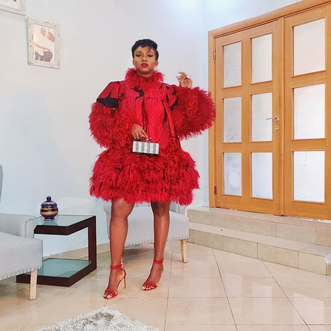 waje-ebonylife-ebony-life-films-tv-red-dress
