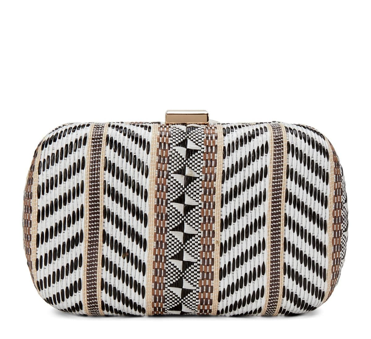 Jackie Raffia Vegan Clutch For Fall Winter Spring Summer