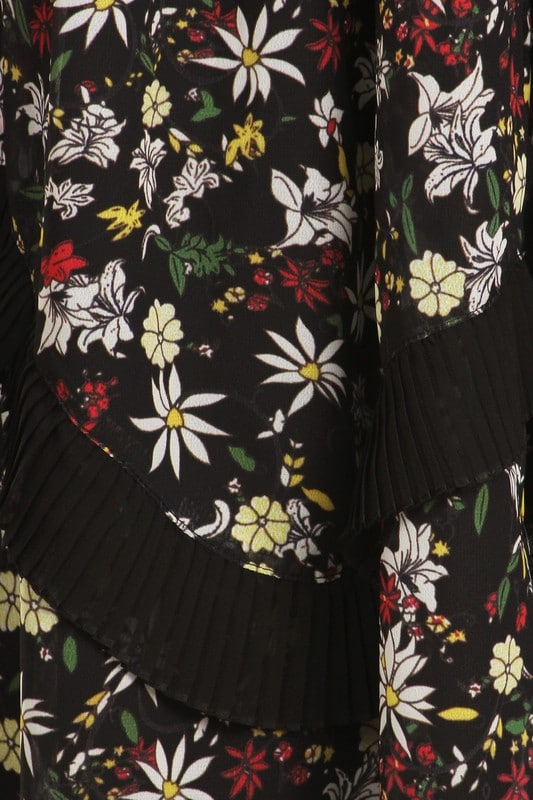 Leslie Floral Print Chiffon Maxi Dress