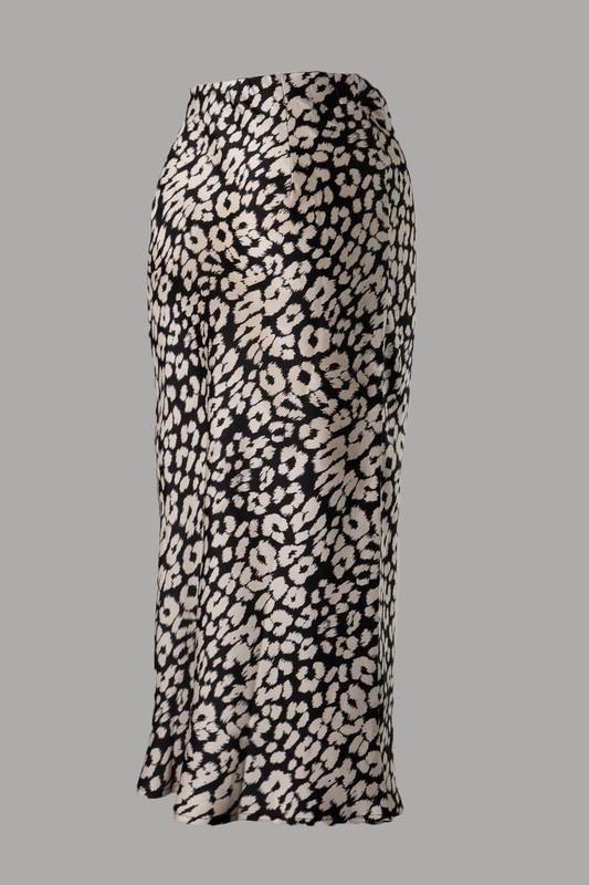 Ife Animal Print Woven Midi Skirt