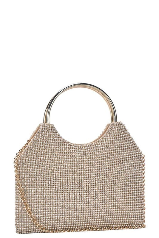 Stephanie Metallic Clutch Bag