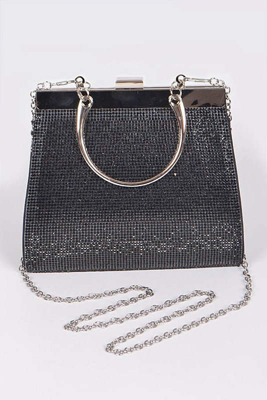 Nessa Metallic Clutch Bag