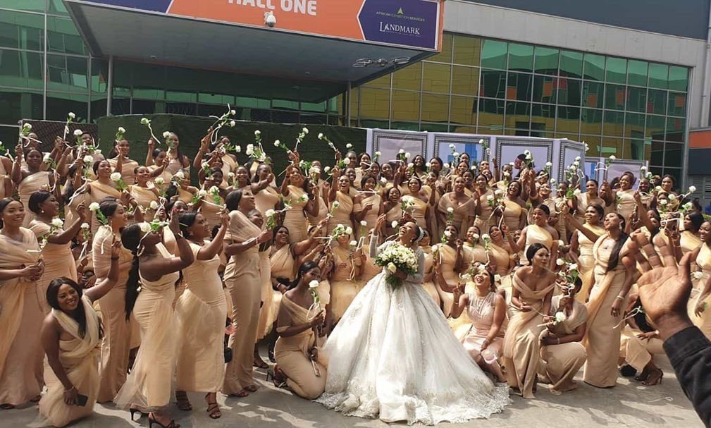 sandra-ikeji-record-breaking-wedding-200-bridesmaids-style-rave