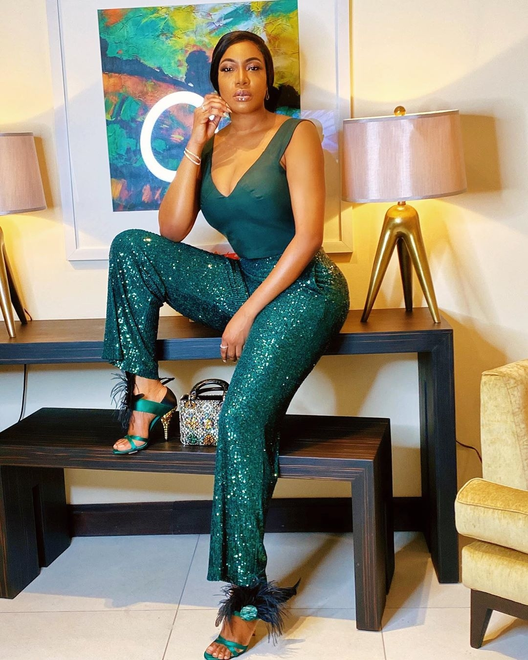 chika-ike-boss-lady-green-outfit