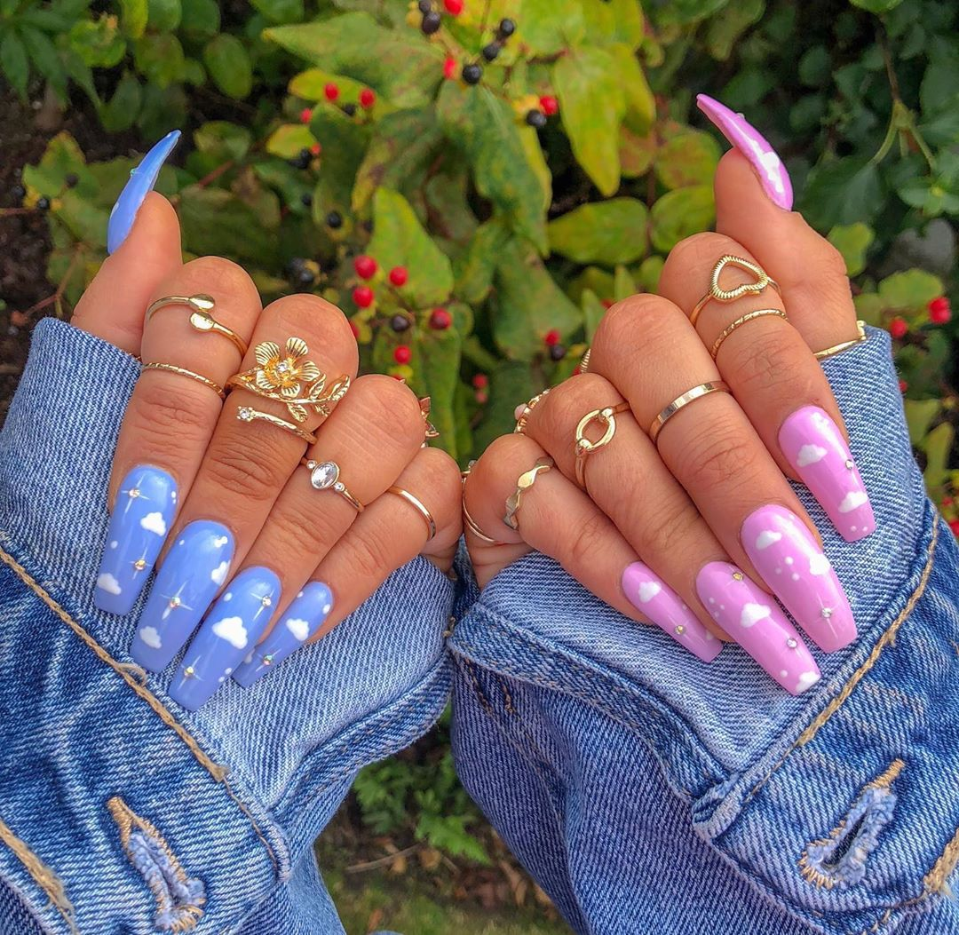 pink-and-blue-star-nail-art-style-rave