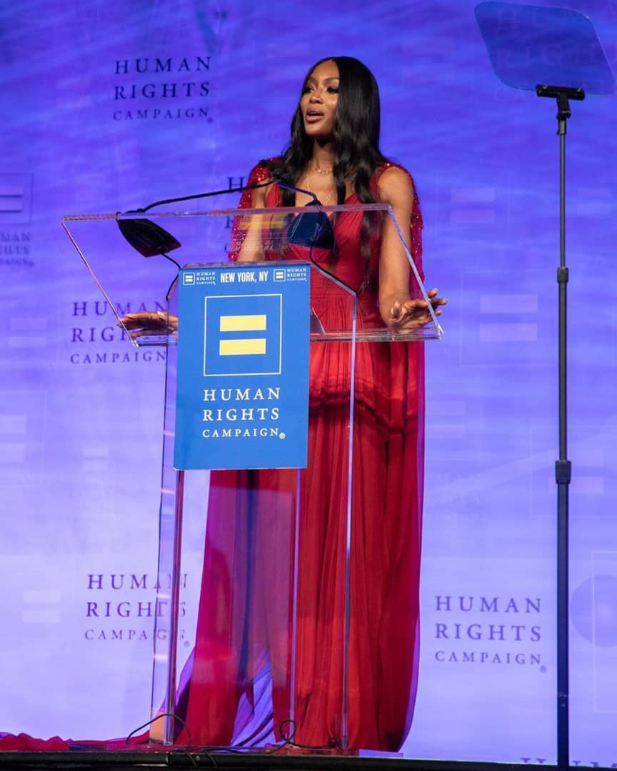 Naomi Campbell Honoured With The Global Advocacy Award In New York