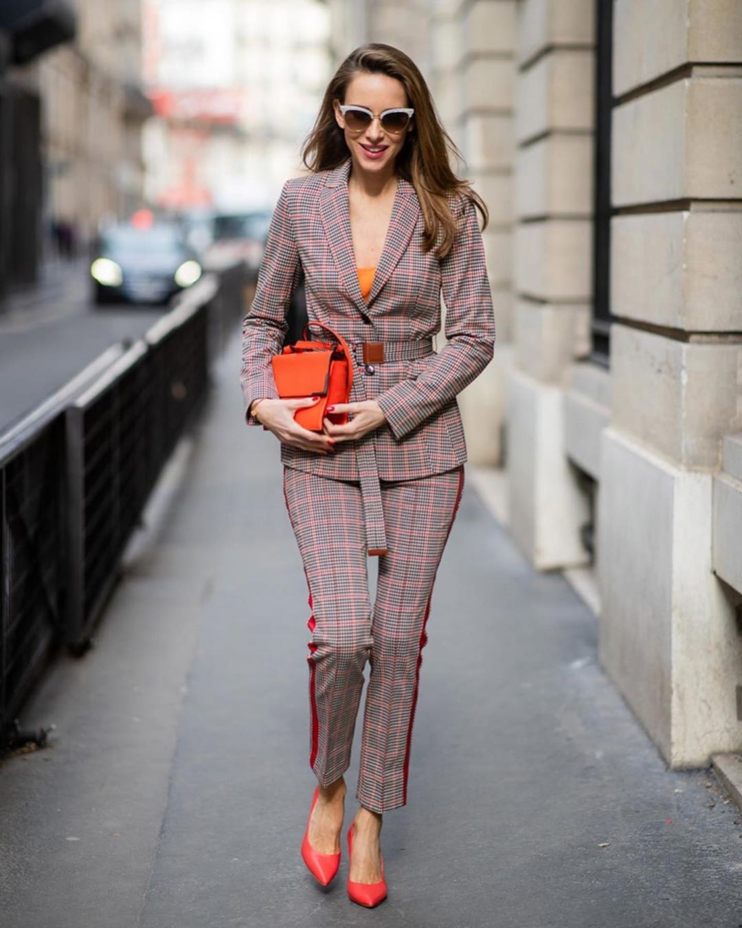 Alexandra Lapp matching corporate checkered set