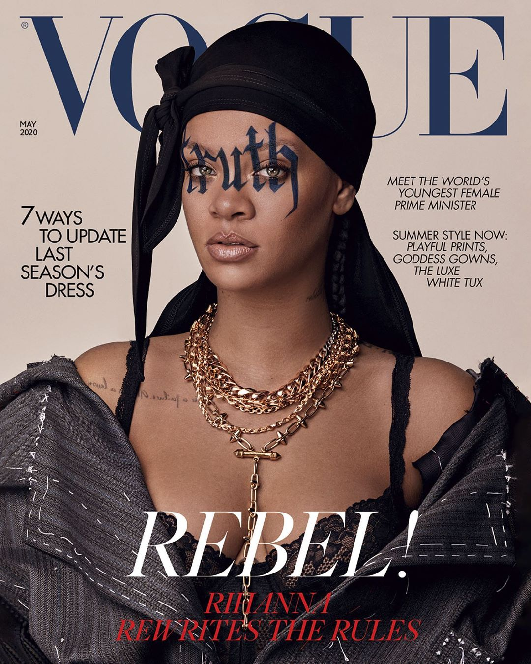Rihanna British Vogue May 2020 Cover Fenty Style Rave