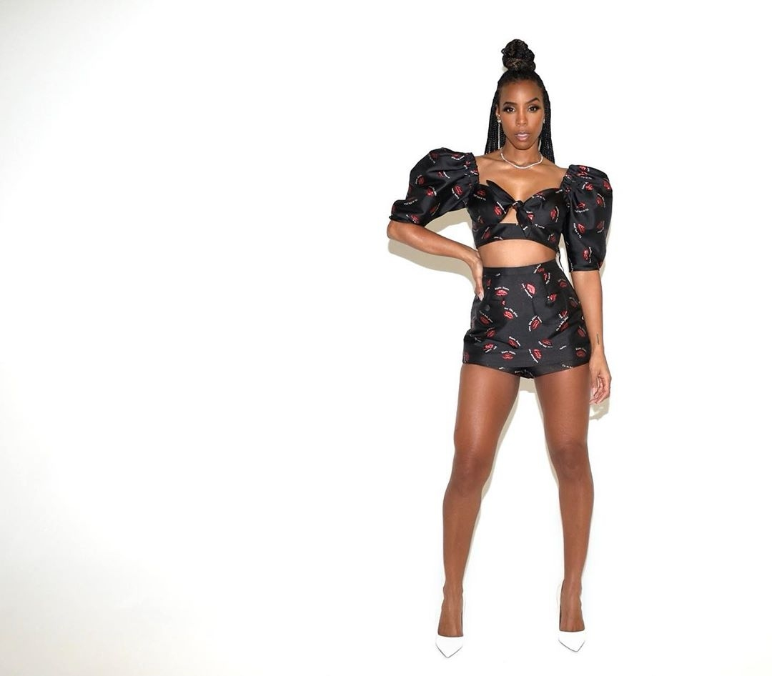 Floral sexy set as seen on Kelly Rowland