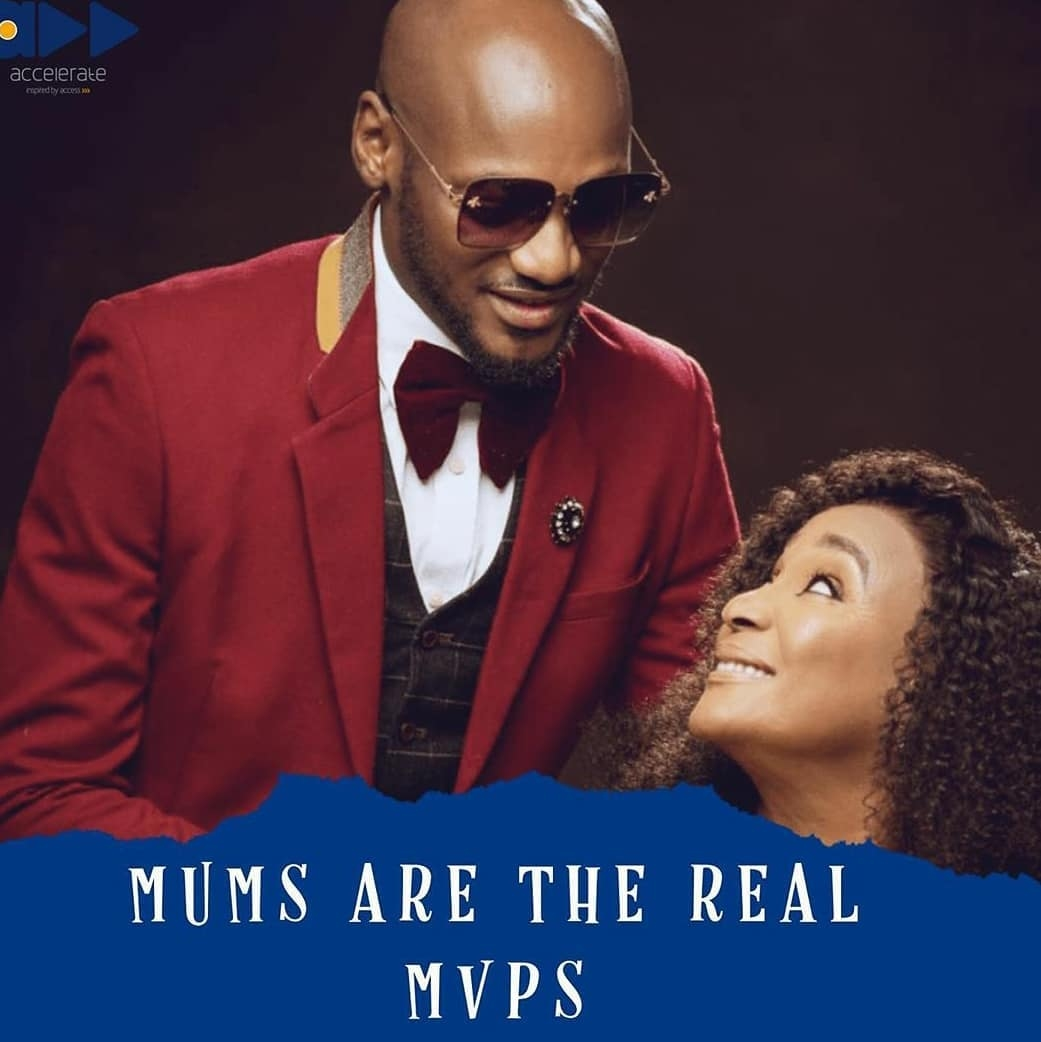 2baba celebrating his mother on mother's day