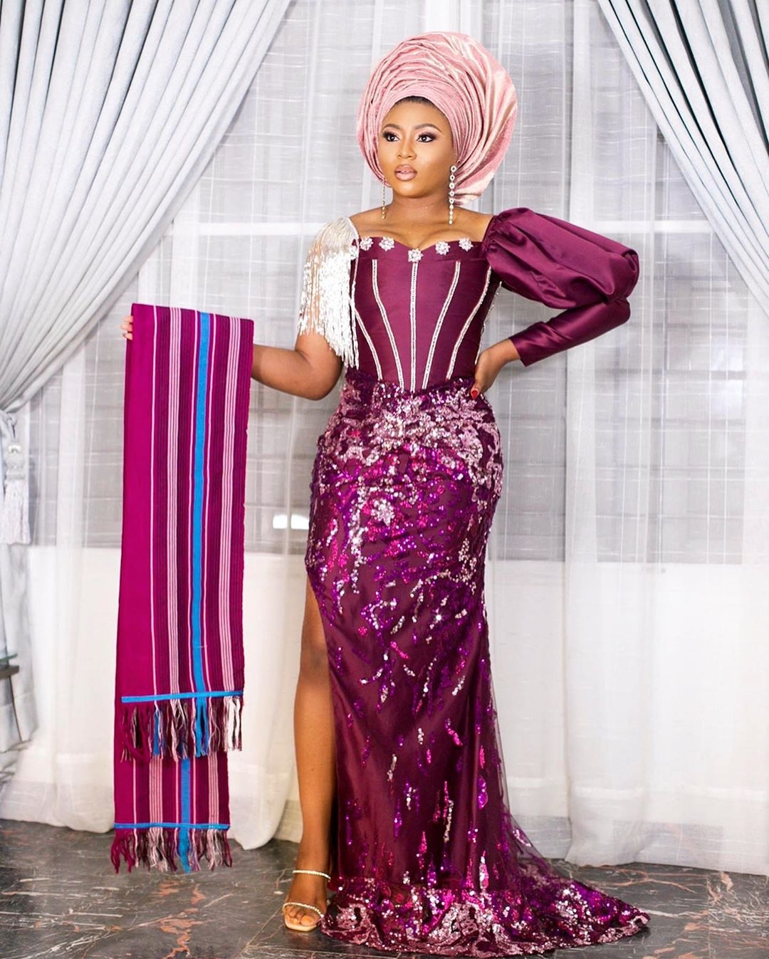 the-most-rave-worthy-best-2020-asoebi-styles-from-anita-brow-and-emmanuel-ikubeses-traditional-wedding