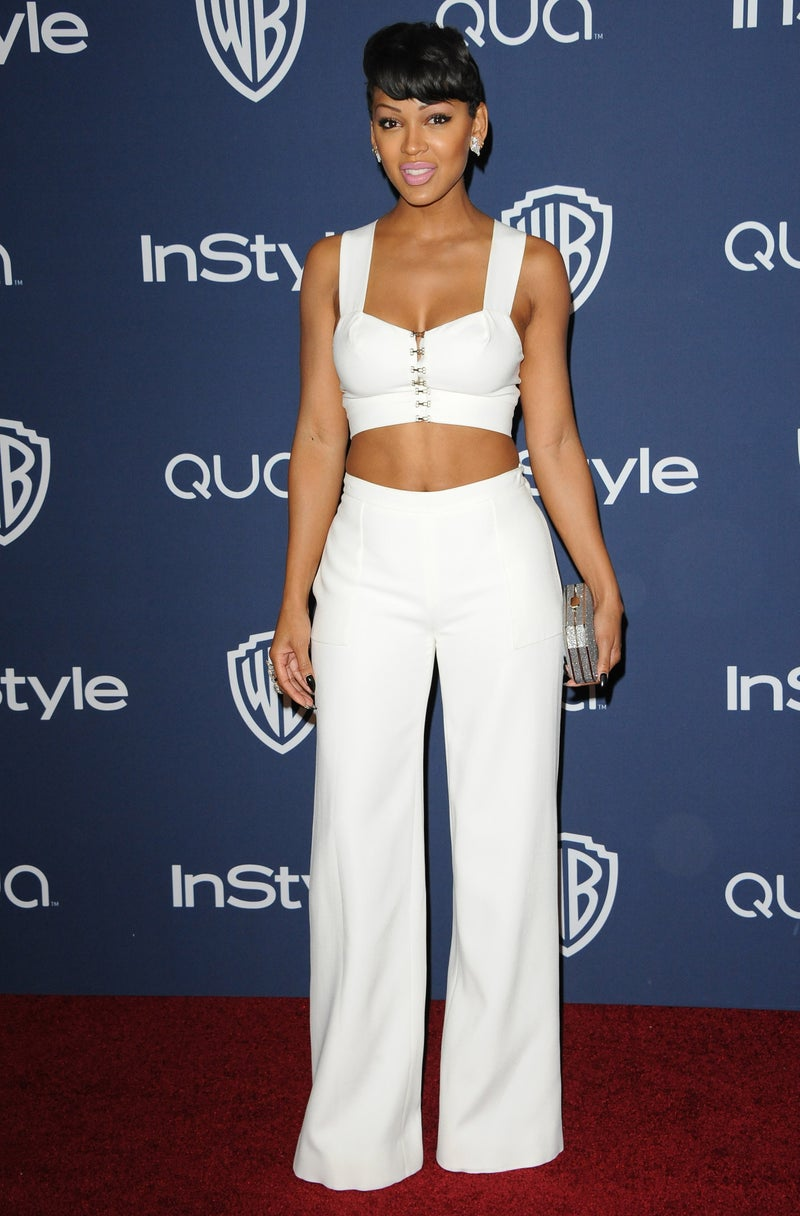 Meagan Good Style InStyle and Warner Bros. 71st Annual Golden Globe Awards Post-Party