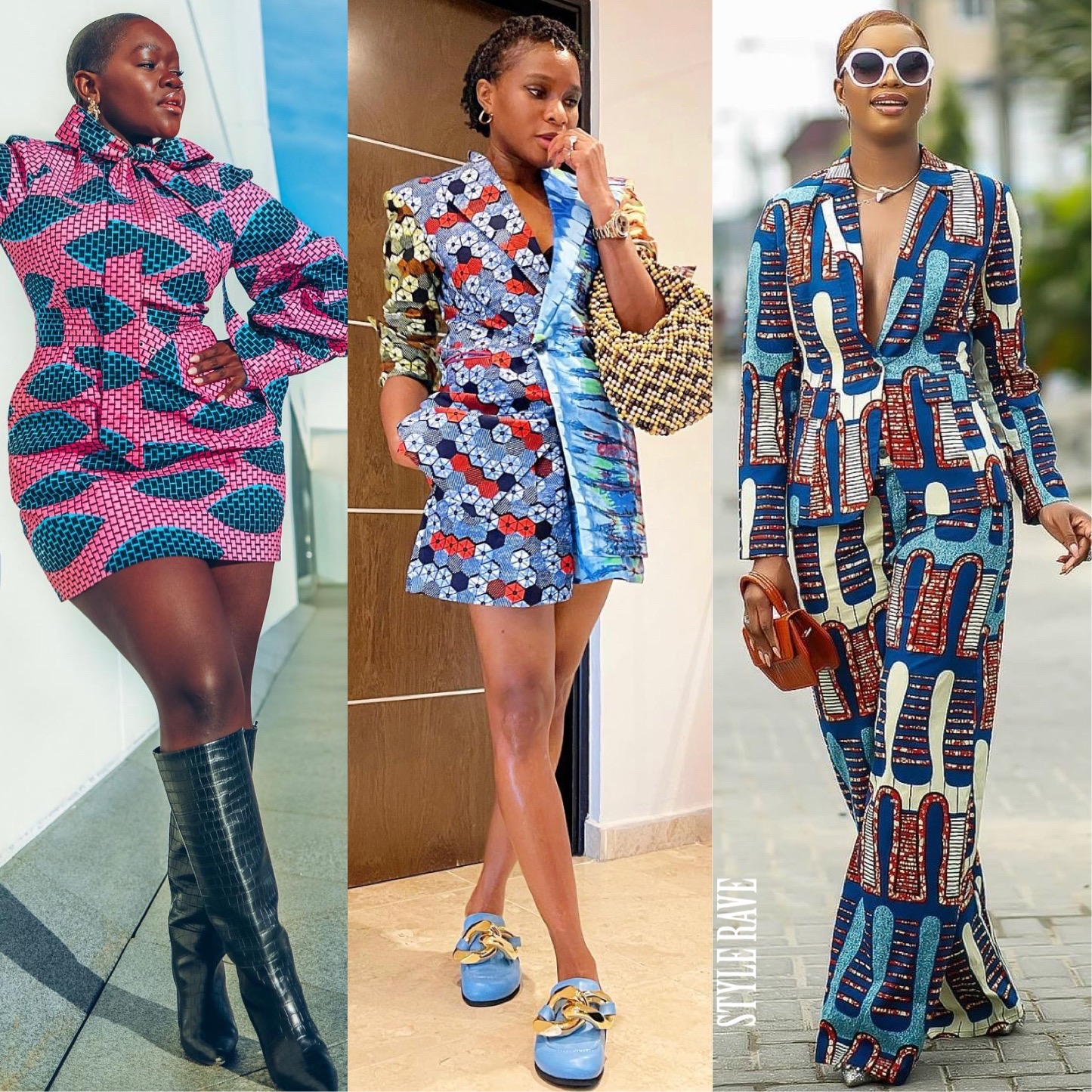3 women wearing the latest ankara styles for ladies in 2021 dresses gowns tops 2020