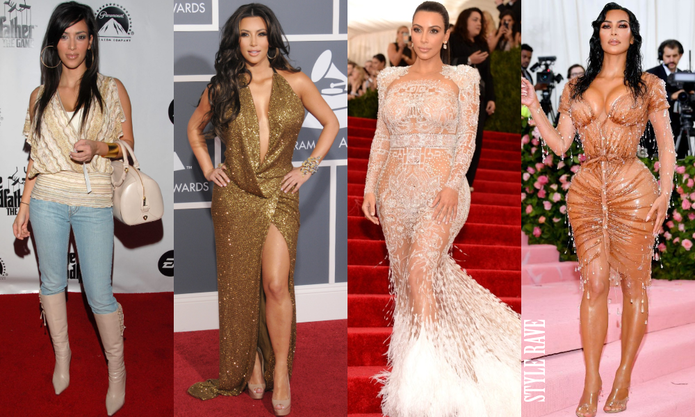 The Evolution Of Kim Kardashian West's Red Carpet Style Rave