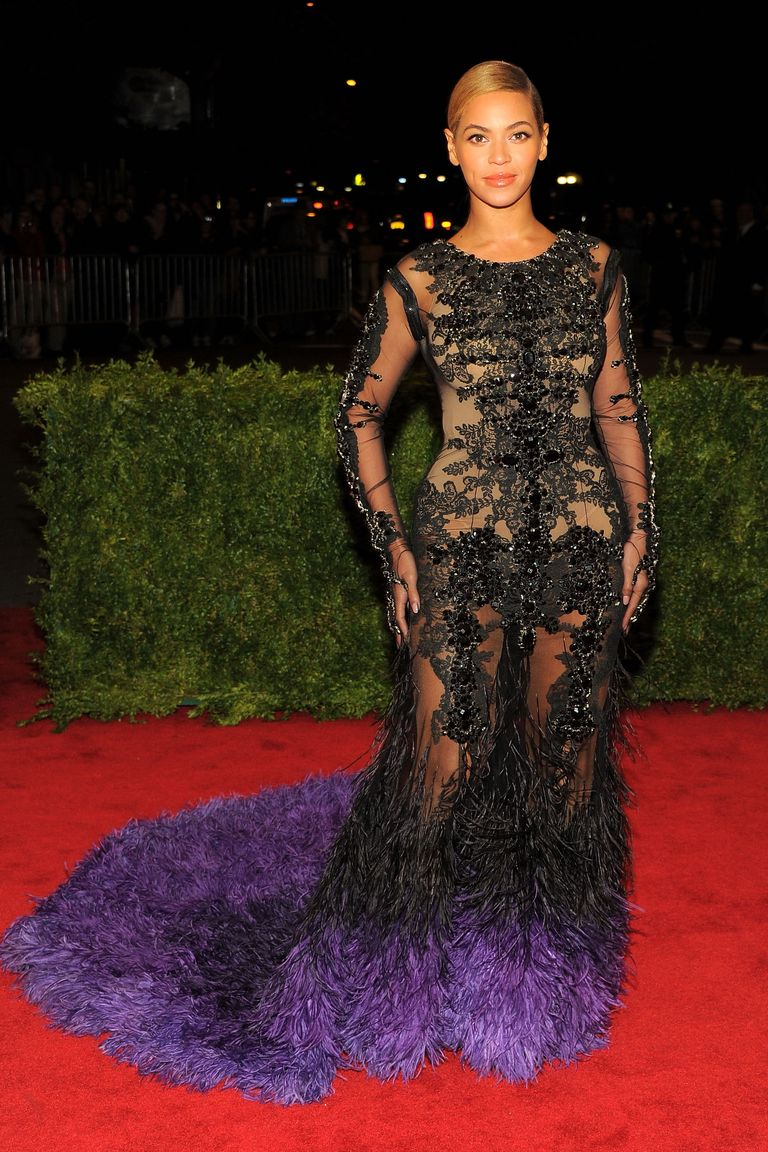 infamous givenchy naked dress for beyonce met gala 2012 the-evolution-of-beyonce's-style:-from-the-bootylicious-singer-to-the-homecoming-queen