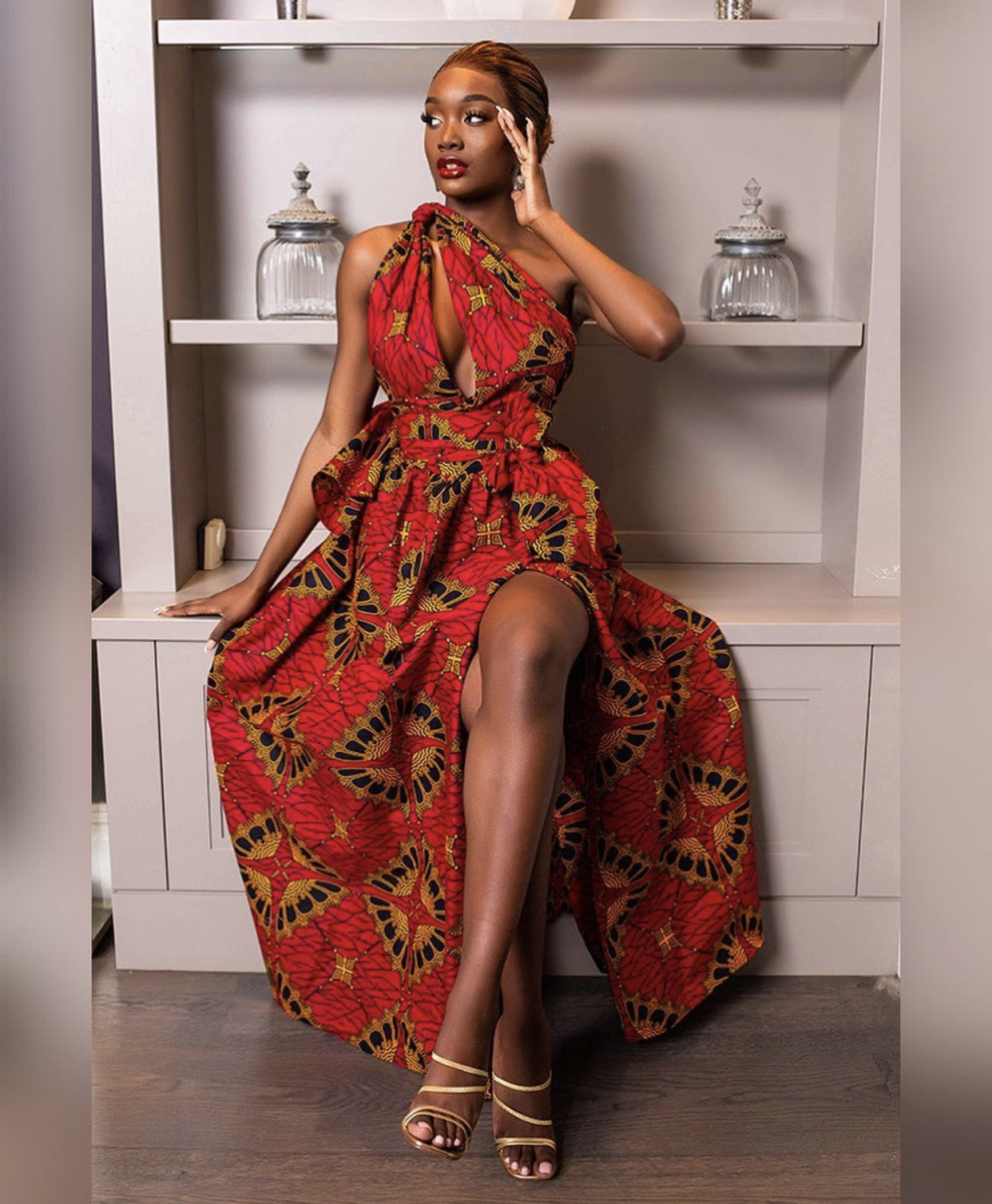 unique asoebi bella dress style with slit