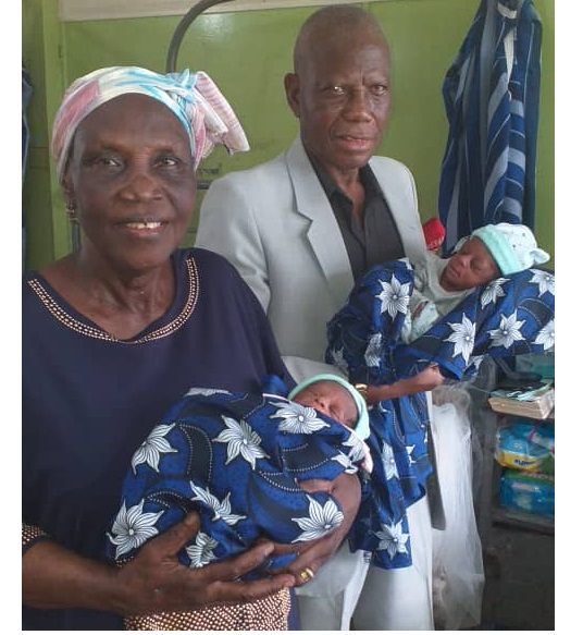 Inspiring! 68-Year-Old Nigerian Woman Gives Birth To Twins