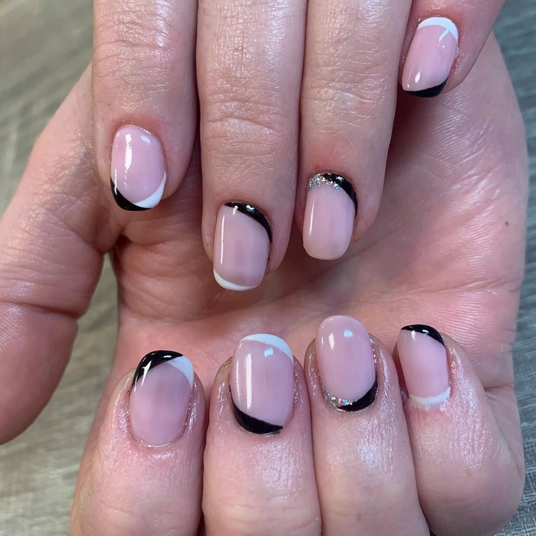 double french manicure diy-quarantine-nails:-10-really-cute-nail-art-trends-you-can-do-at-home