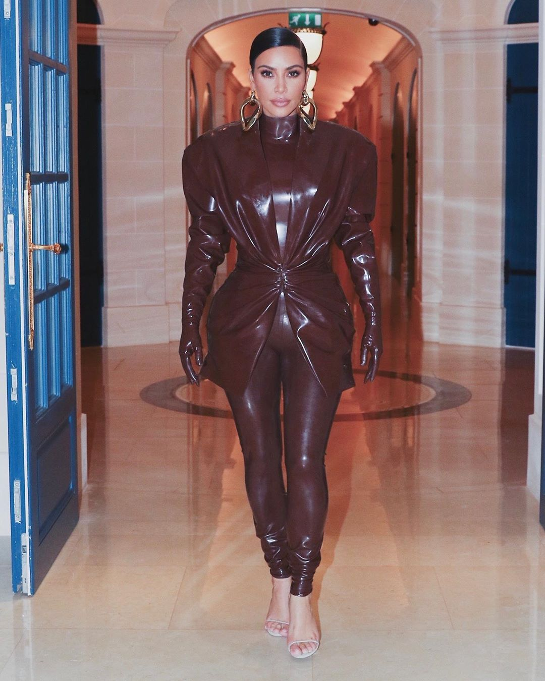 Kim Kardashian West wearing Balmain