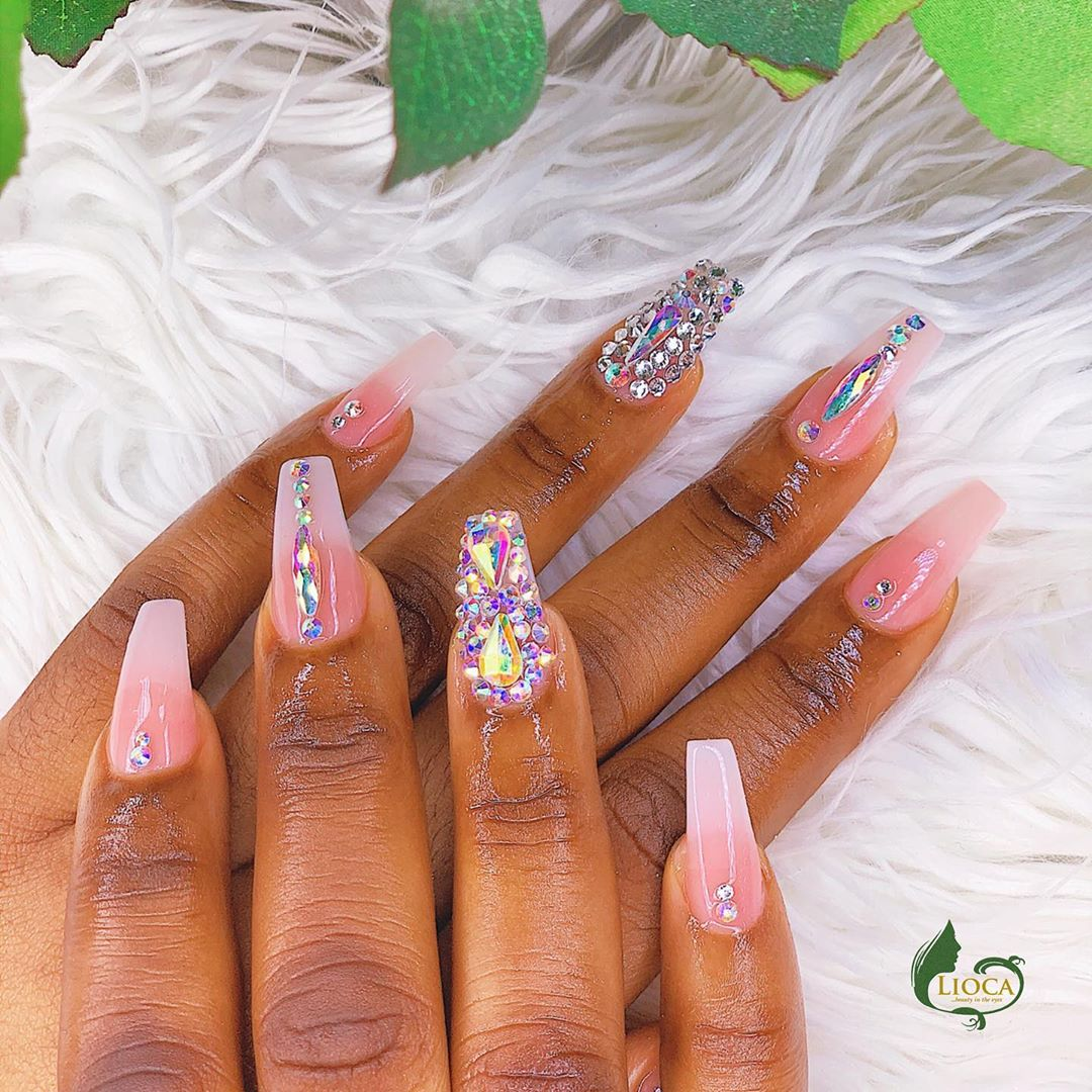 embellished nails manicure diy-quarantine-nails:-10-really-cute-nail-art-trends-you-can-do-at-home
