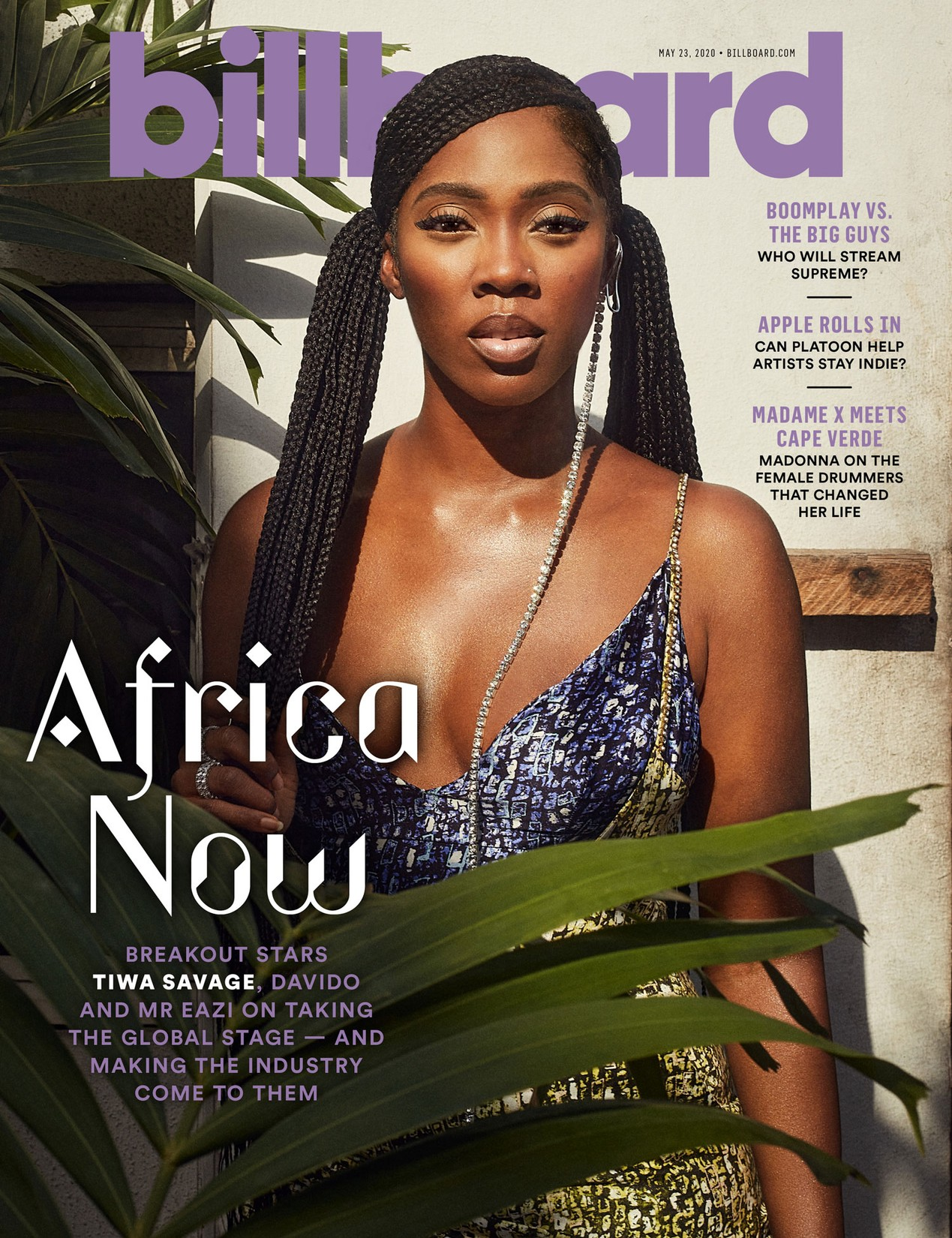 Tiwa Savage, Davido And Mr Eazi Grace The Cover Of Billboard Magazine