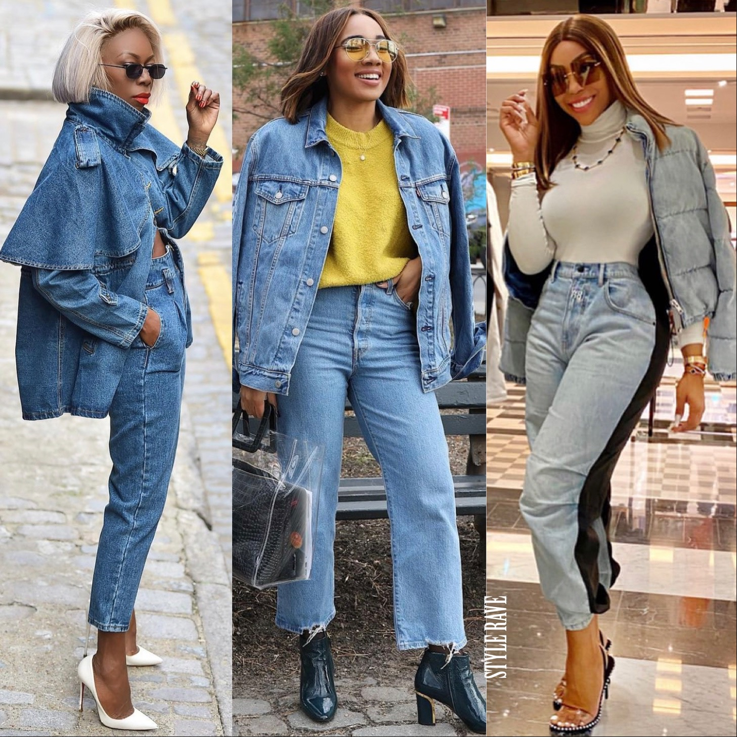3 black women show how to wear denim on denim on denim day 2021