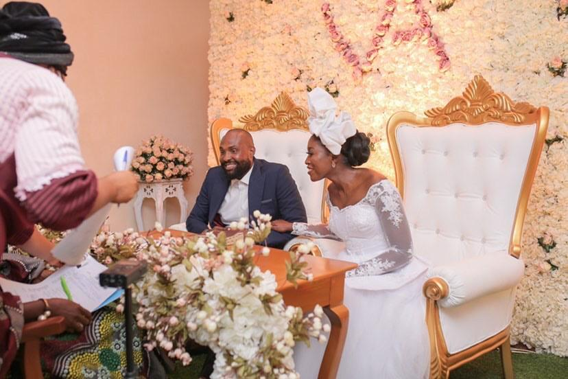 Vimbai Mutinhiri And Dru Ekpenyong Had A Beautiful Zoom Court Wedding