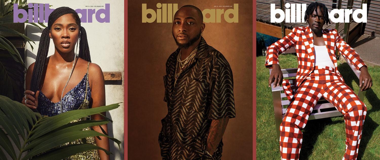 Tiwa Savage, Davido, Mr Eazi Billboard Magazine