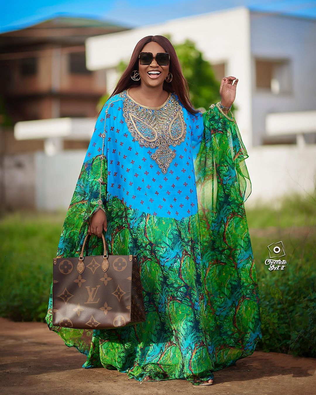 Jackie Appiah floral print abaya The Looks We Loved On African Celebrities And Style Stars Last Week