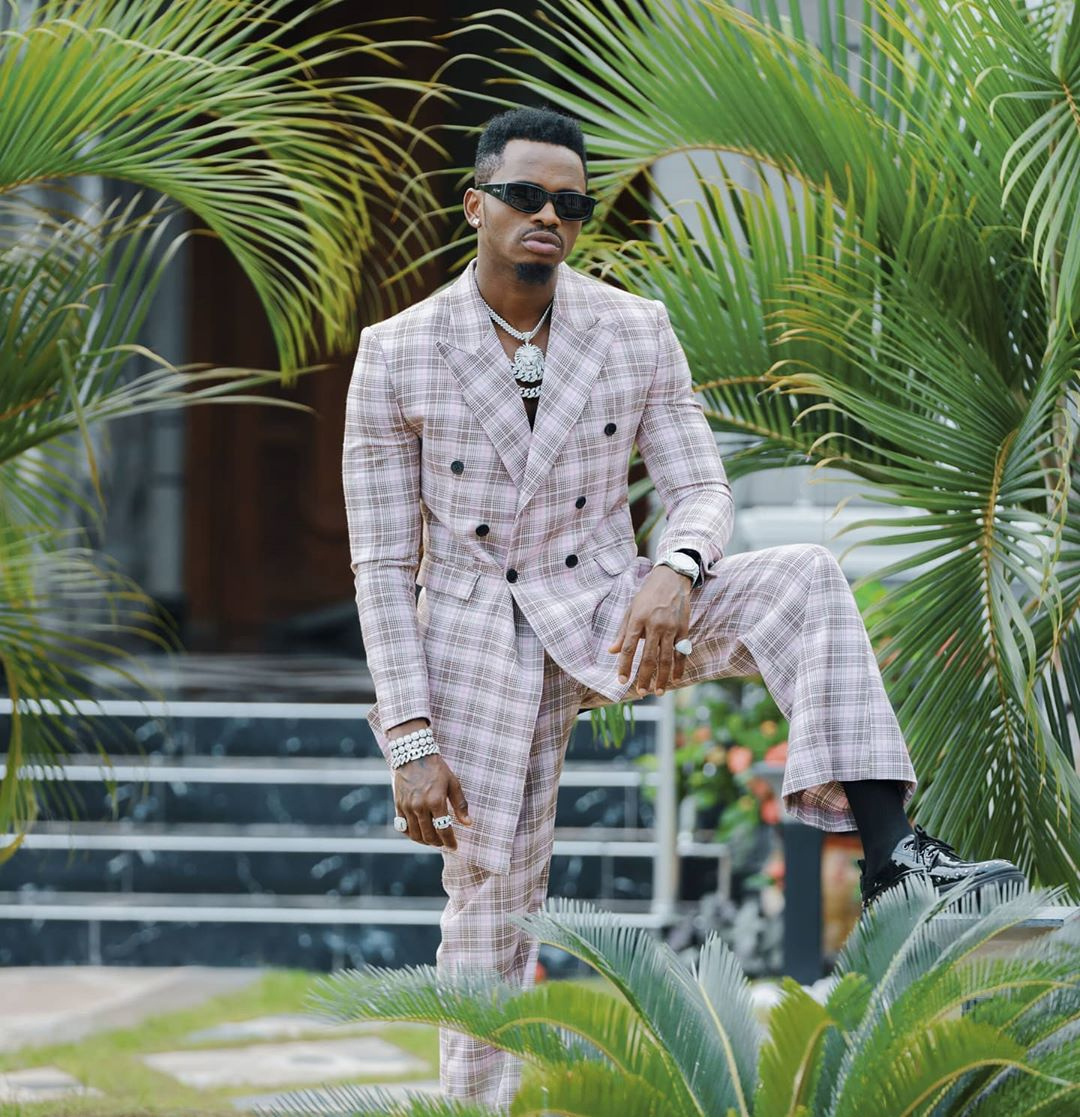 Diamond Platnumz fashion style suit 2020
