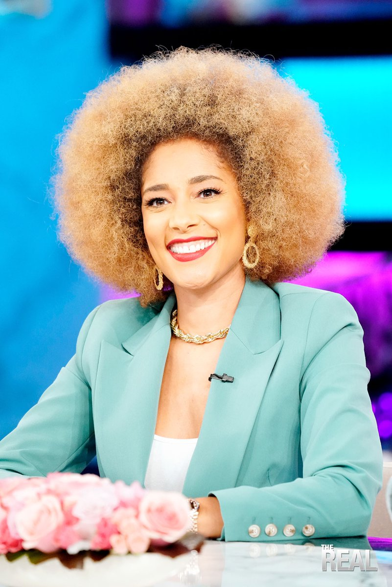 Amanda Seales Afro Cyan Blazer The Real