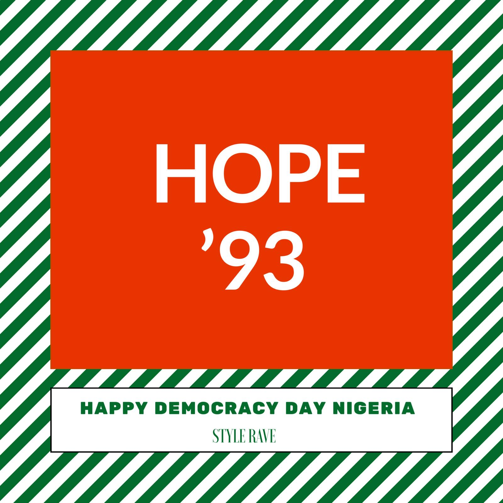 Deomocracy Day Nigeria June 12 1993 Style Rave