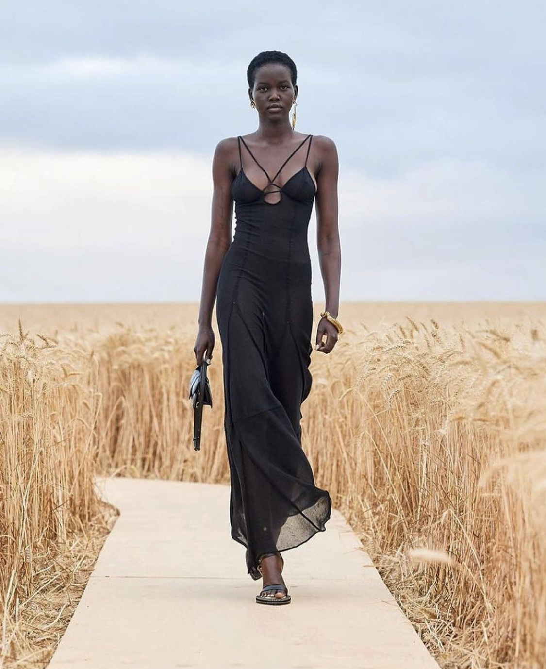 Adut Akech Walks for Jacquemus L'Amour SS21 Show