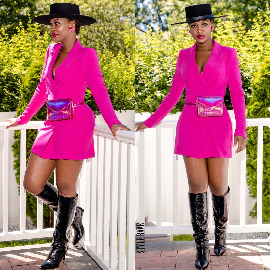 pink blazer dress womens zara outfit